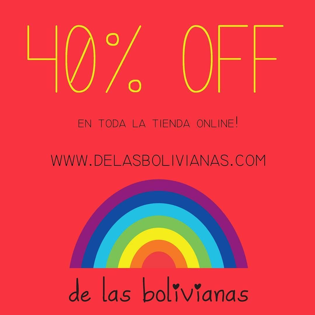 ⚡⚡⚡⚡SUPER SUPER SALE ⚡⚡⚡⚡ hasta 40 % OFF en toda la tienda online!!! www.delasbolivianas.com