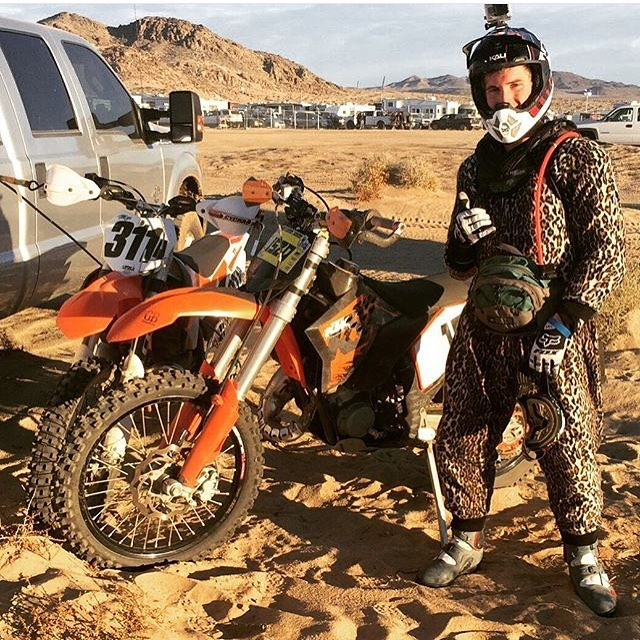 Our boy Burt may dress like a goon, but that didn't stop him from finishing in the top twenty at one of the gnarliest enduro races in the world. Congrats! | @gatosbros | #KingofHammers #KingoftheMotos