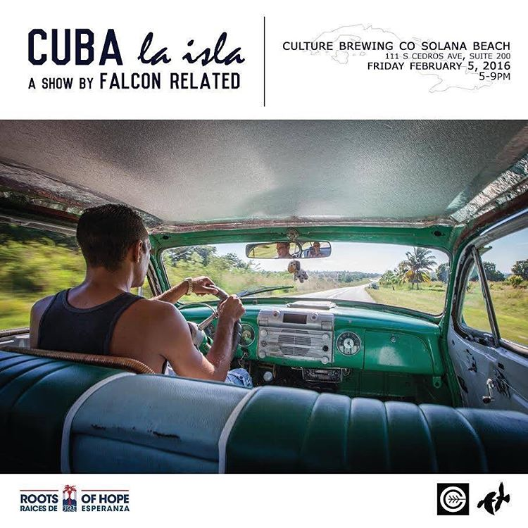 ~ Tribe Gathering ~  This Friday @culturebrewingco in Solana Beach, the tribe is gathering to support our good friends @falconrelated . Join us for a photographic journey through their recent trip to the island of Cuba. Show starts at 5pm. Come and...