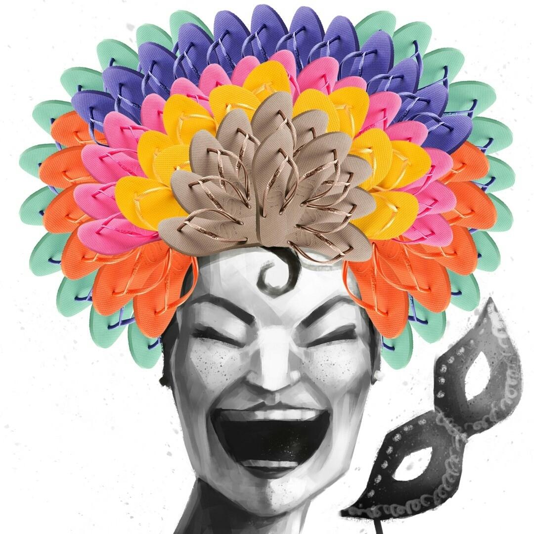 Força na peruca, que dos pés a gente cuida. #Carnaval #TôDeHavaianas #HavaianasMoment #VoyConHavaianas