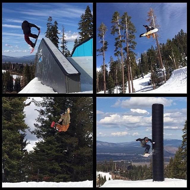 #AlexHereford, @zackwillmadeit, @erikleon_ , and  @shaunmurphy413 had fun at the Flux team shoot up in Tahoe! #thefluxlife Photo: @bradfarmer