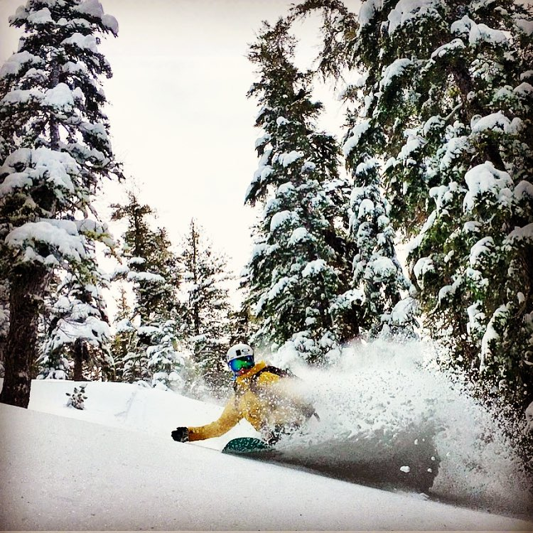 It seems like it has been perpetual pow town in Tahoe this season! #A7Renegade @caseylucassnow dances through the deep.