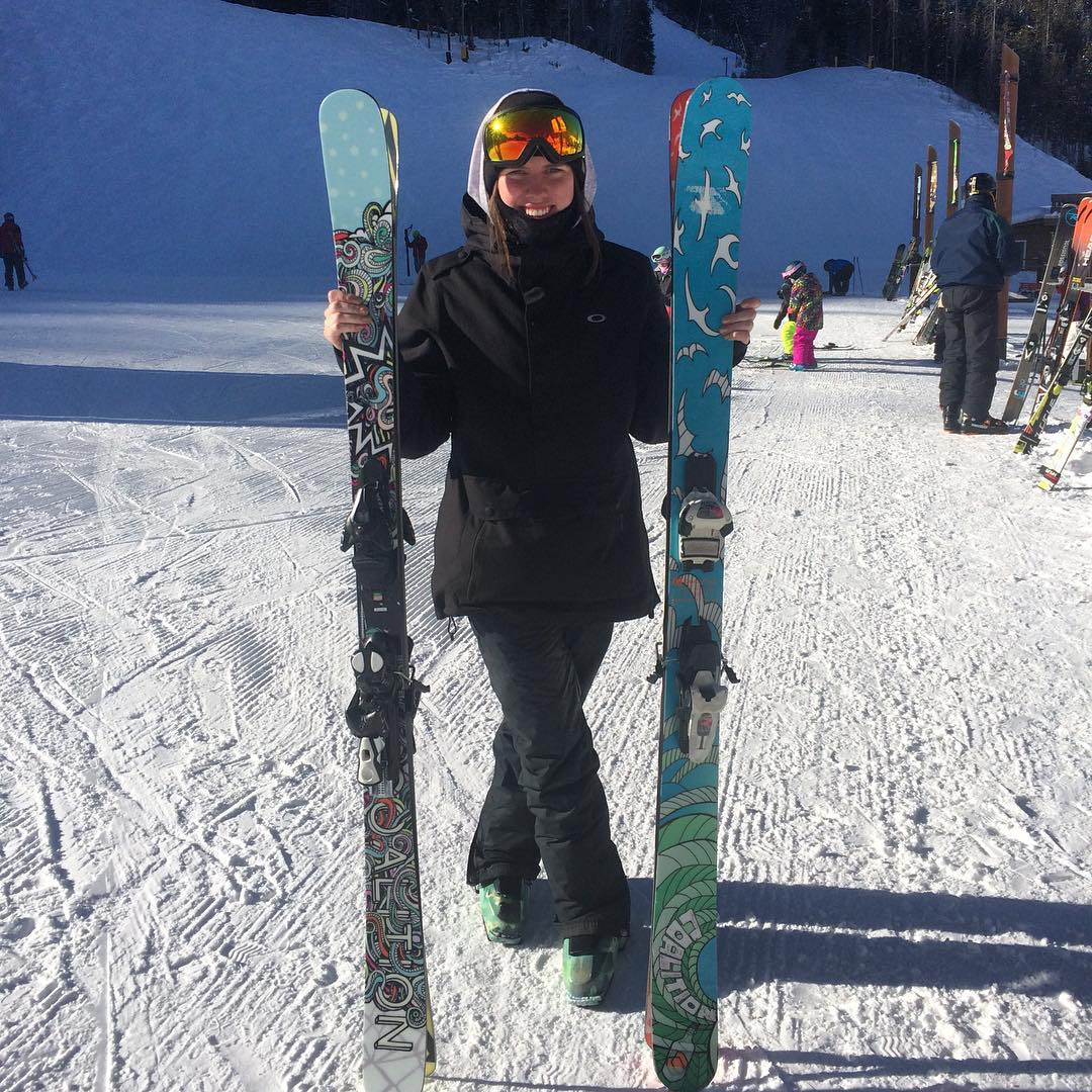 We're at @keystone_resort today with team rider @adielawrence. Find us at the base of the Peru lift. #sisterhoodofshred #extremefaceshots #skilikeagirl