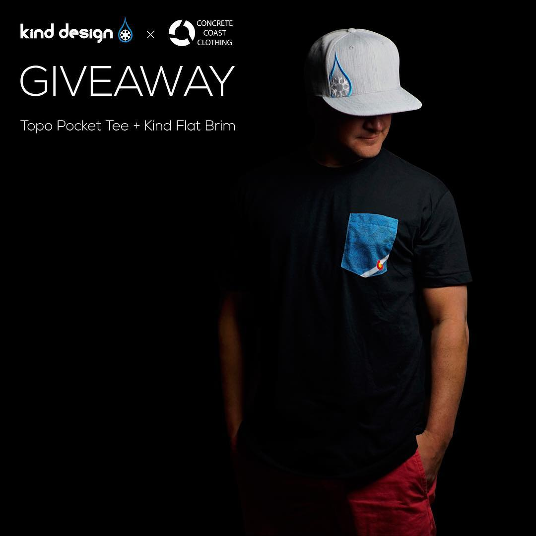 Tee & Hat Giveaway!  Like this post, tell us your favorite place in Colorado, and tag two friends to enter.  Winner will receive a Kind Flat Brim (choose color) and a Topo Pocket Tee (choose color, size, and topo location). You can get these awesome...