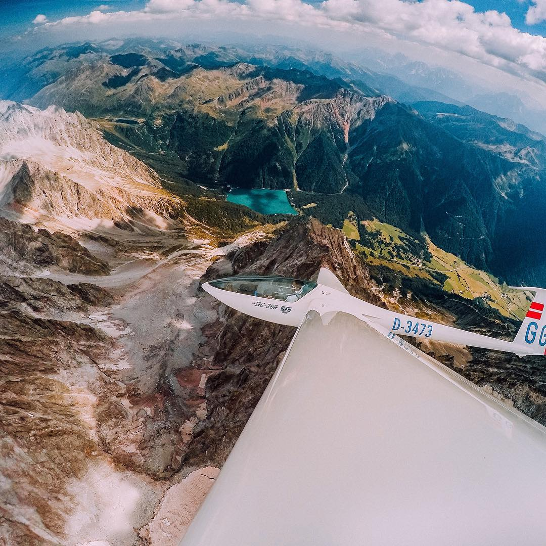 Photo of the Day! Pierantonio Fassia banking into a stunning view of the #Dolomites over #Italy. Taking flight? Share with us at gopro.com/awards. #GoPro
