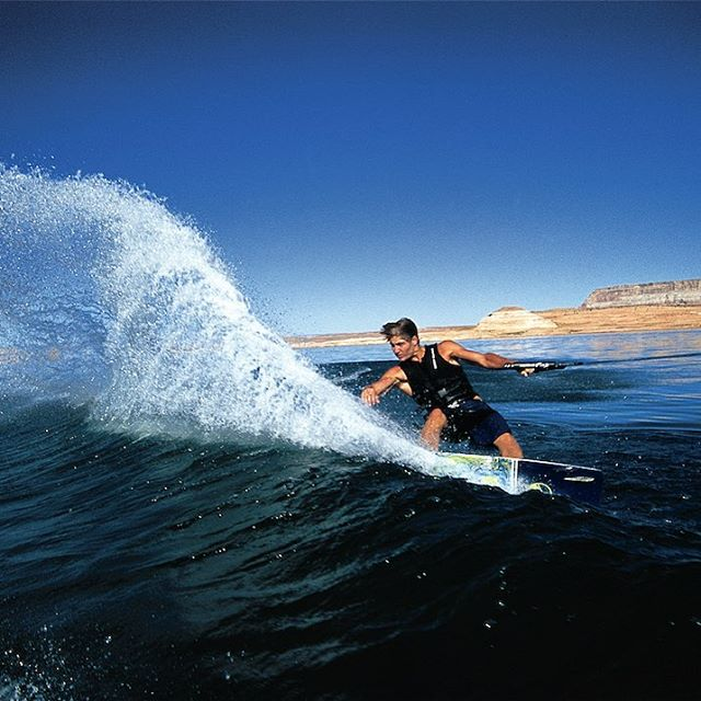 #tbt @collinharrington Throwing buckets on the Fish at Powell about 11 years back.  #goodtimes #gonefishin #liquidforce