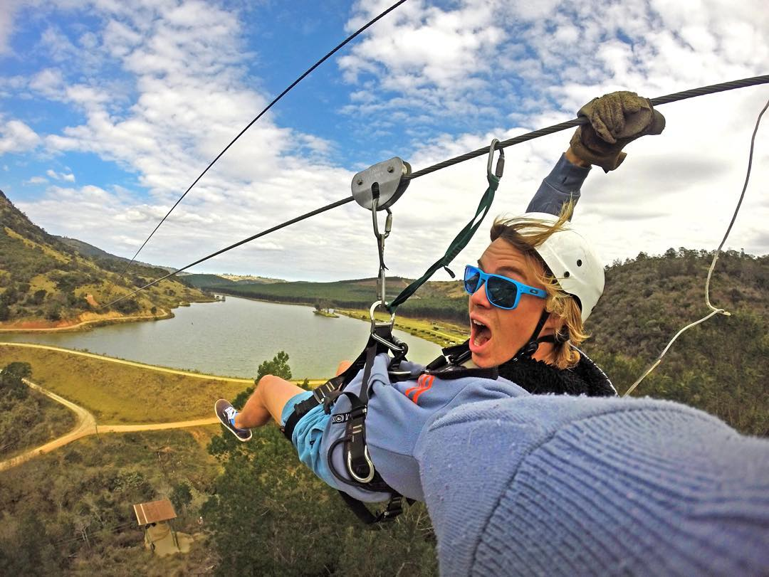 Enjoy the weekend! Photo: @wiggzb GoPro HERO4 | Grenade Grip #gopro #hero4 #gopole #grenadegrip #zipline
