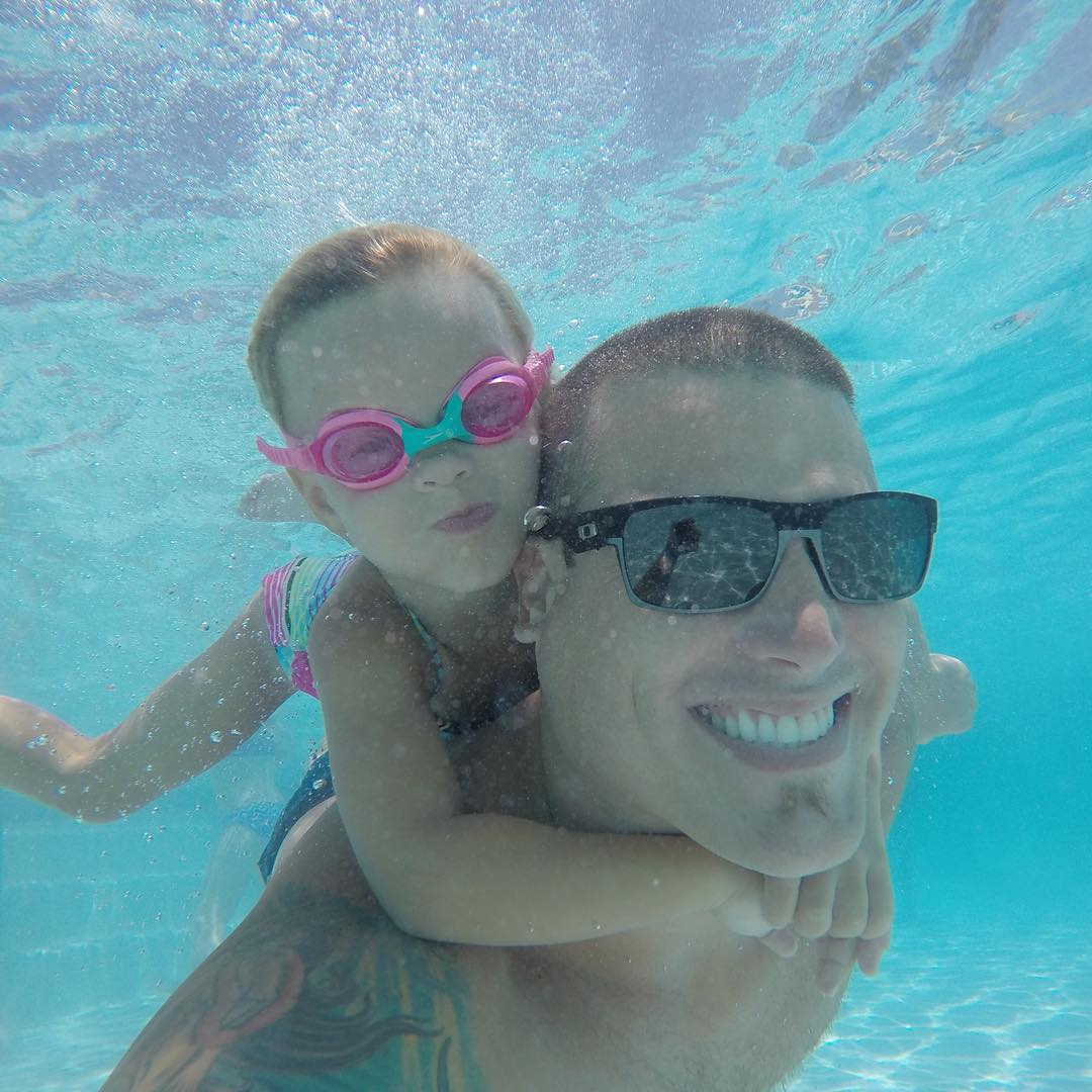 GoPro Featured Photographer - @loniepaxton  About the Shot: My daughter Reese and I love cruising around #underwater like piggy backing #mermaids at our local spot, the La Costa resort kids pool in #SanDiego.  Watching her swim and play for hours in...