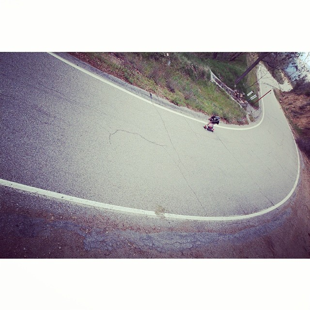 Caliber homie @sk8namaste charging some mountain roads. Photo: Tim Farrell