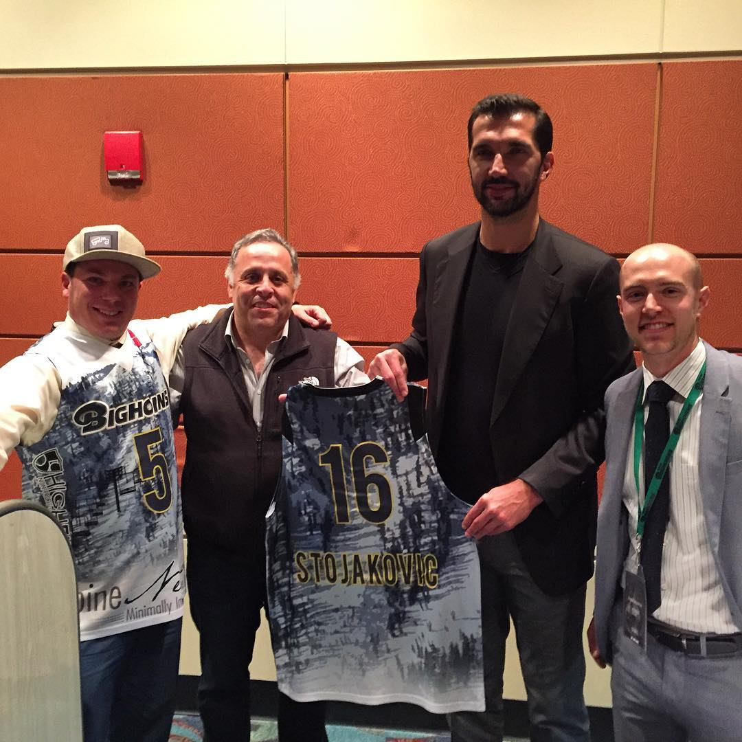 @reno_bighorns tonight with the legend @pedjastojakovic for #HIGHFIVESFOUNDATION night in Reno with SpineNevada