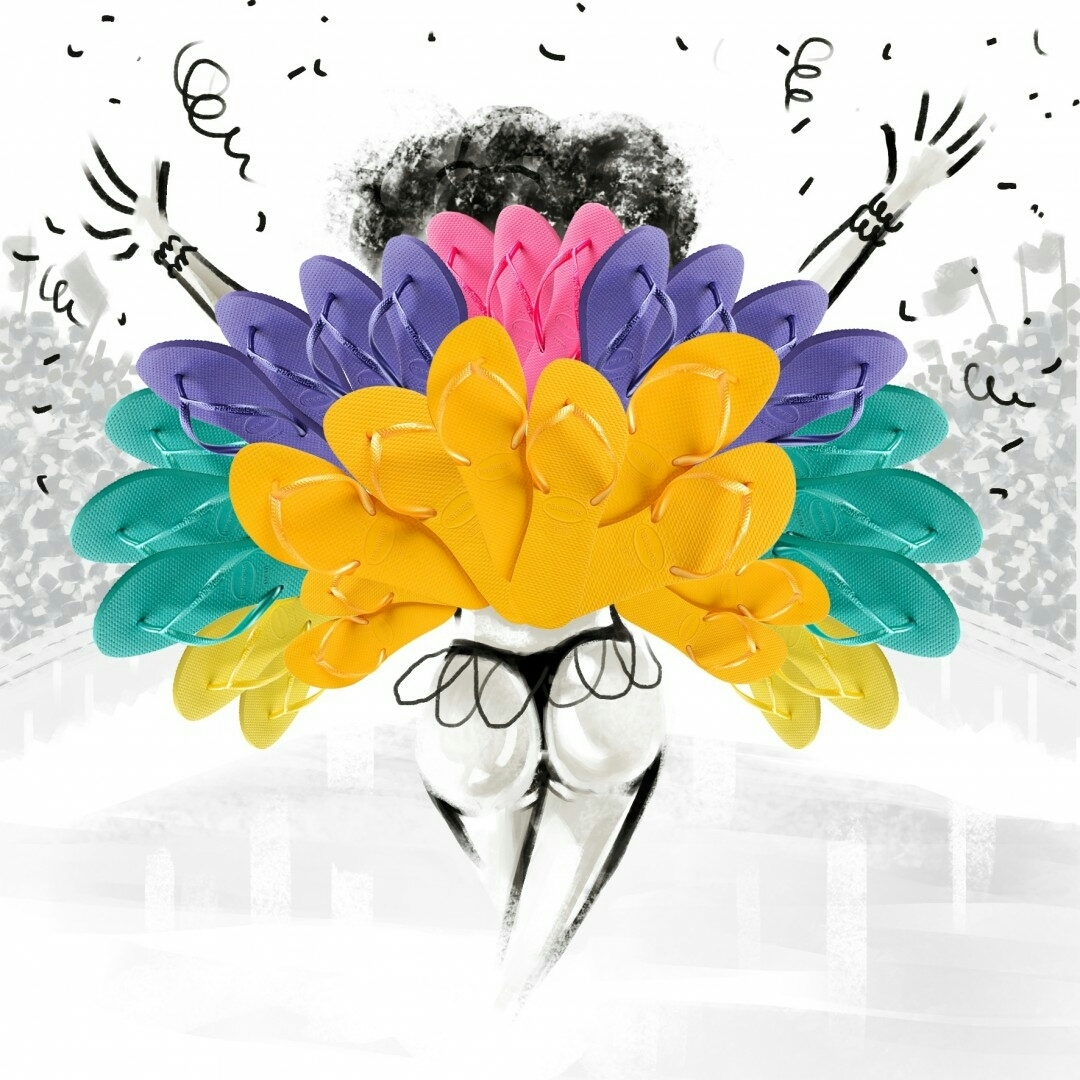 Reinando com muita cor no #Carnaval #TôDeHavaianas #HavaianasMoment #VoyConHavaianas