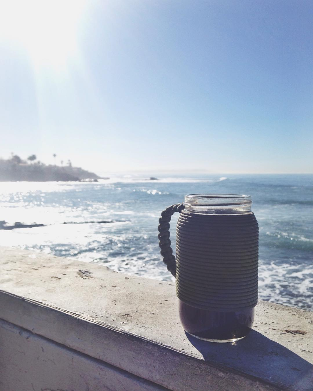 ~ Weekend Slides ~  On the search for waves this Saturday morning with a hot cup of coffee and the reusable Adventure mug.  Pick one up in our online shop for 15% off with the purchase of a 100% organic cotton crewneck sweater....