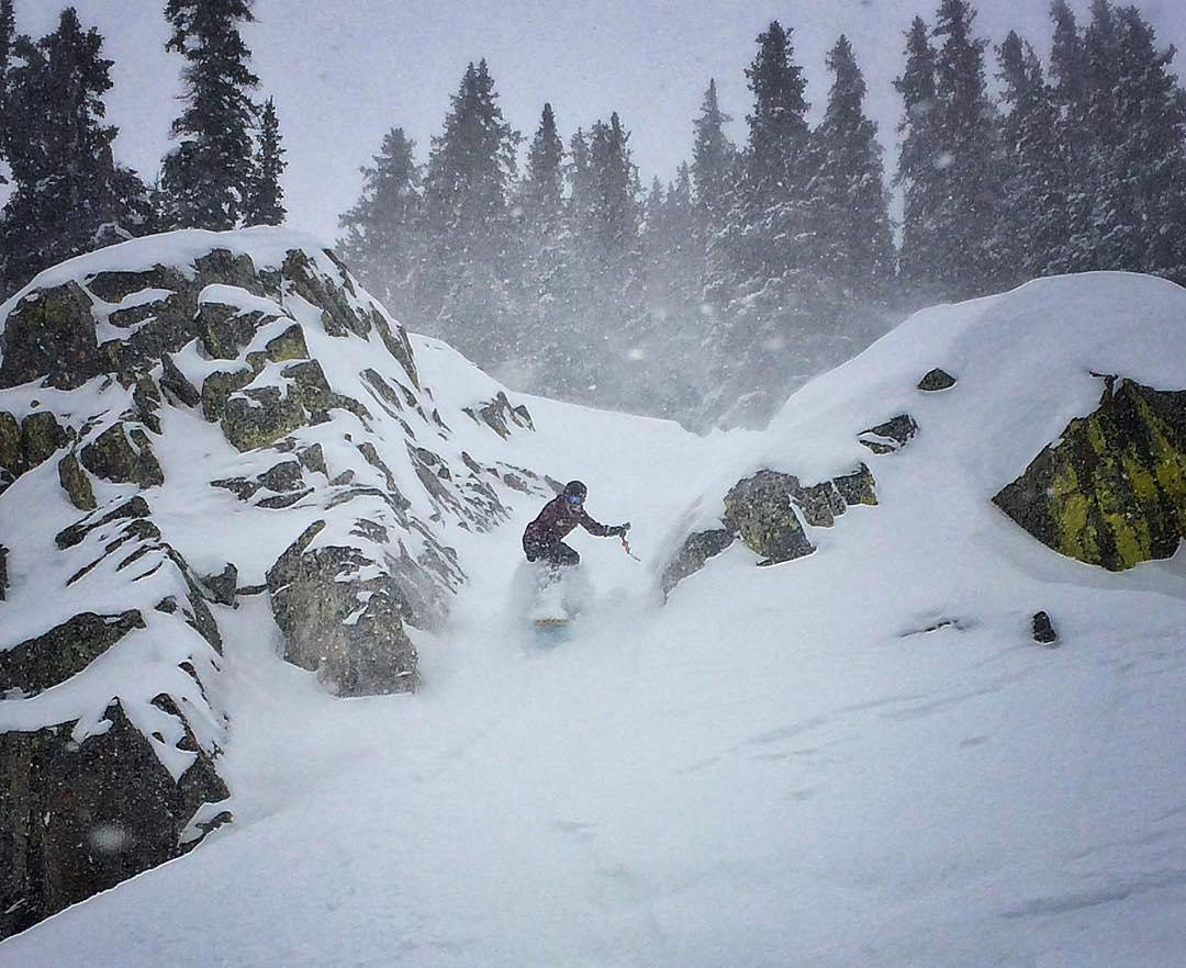 Mariah Dugan (@gnar__marr) having fun on pow day at @brightonresort