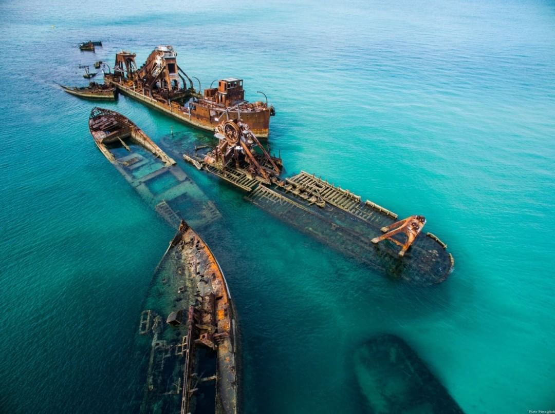 Moreton Island Wrecks  Credit: Piotr Parzybok | #Inspire #Australia  Use #IamDJI to share your aerial creations with us!