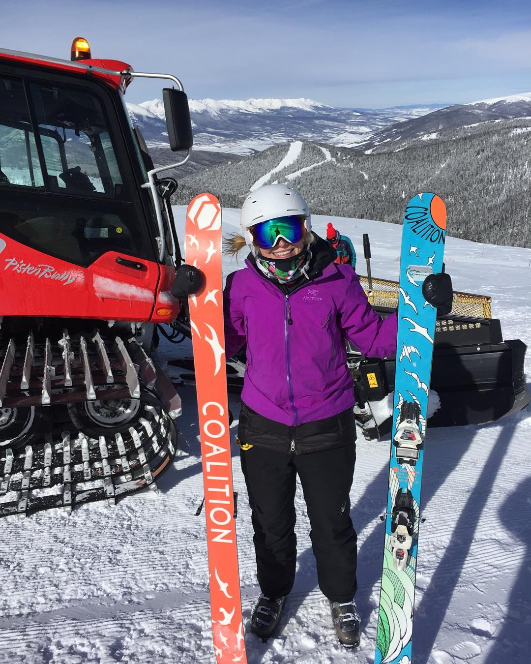 Stacey Patterson was all smiles after testing the #SOS at @keystone_resort this week! #extremefaceshots #sisterhoodofshred