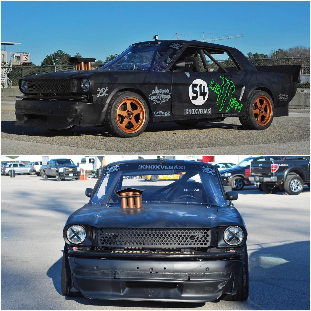"Ha, this rules! A group of LeMons racers (the #KnoxvegasLowballers) out of Knoxville built three separate cars this year as a tribute to Gymkhana. They killed it on the Hoonicorn ""replica""! Funny to see the amount of detail they went into in this..."