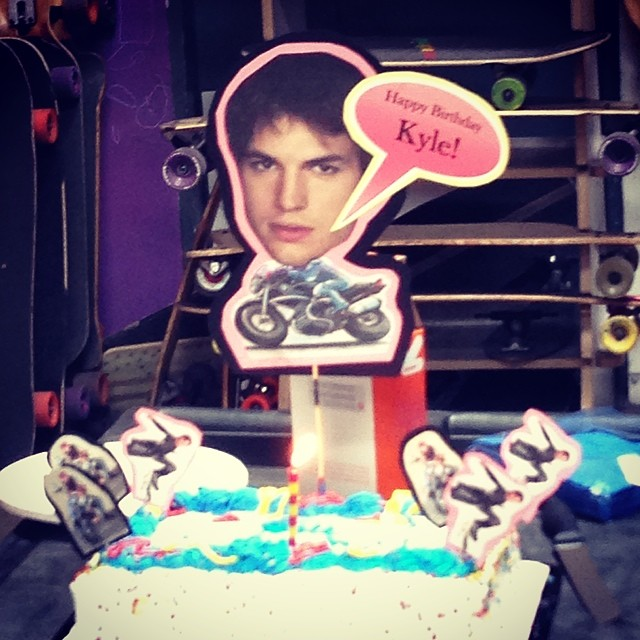 Happy Birthday from Ahton Kutcher to @kylechin. The #MinisterChinister is a solid 27 years young!