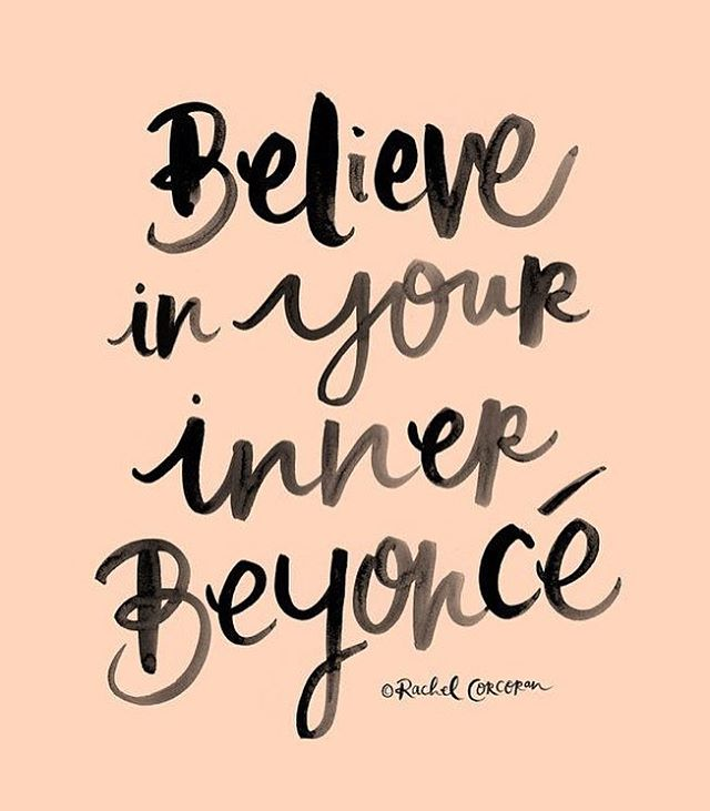"""To inspire people...It makes me proud. I want people to be proud, and have love for themselves."" - @Beyonce LOVE YOURSELF! Who needs a little #Beyonce in their morning? - #mondaymantra #mondaymotivation #superbowl50 #superbowlhalftimeshow #slay"
