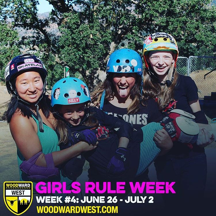 Looking for a skate camp this summer? Check out @woodwardwest 's Girls' Week and you'll be sure to make friends with skater girls from all over the world!