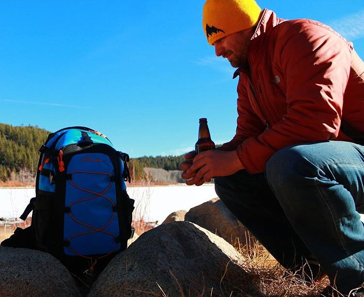Deep thought with the Cascade backpack... Oh and enjoying an Alaskan brew. #alaskanbeer #cascadebackpack #spoonerlake #tahoe #getoutside #whatsyour20 #graniterocx