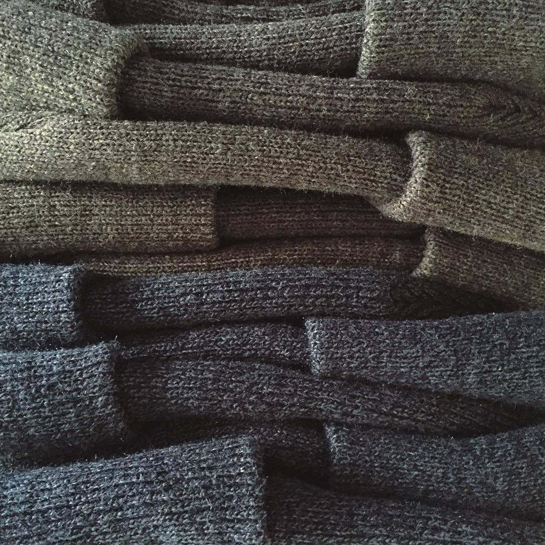 down to the last stack of beanies on this batch