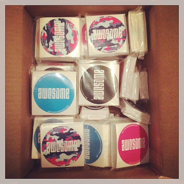 fresh stickers!  #awesome #awesomesurfboards #sticky#surfboard #surfboards