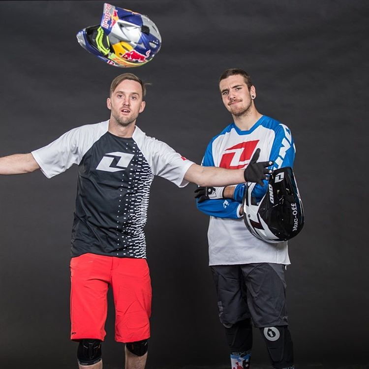 Great fun at the recent #Ridercamp #SixSixOne shoot with @aaronchase & @tomaslemoine a few weeks back... We're not sure this is full #BlueSteel modelling tho #661protection #ProtectFun Photo @brandonmeans