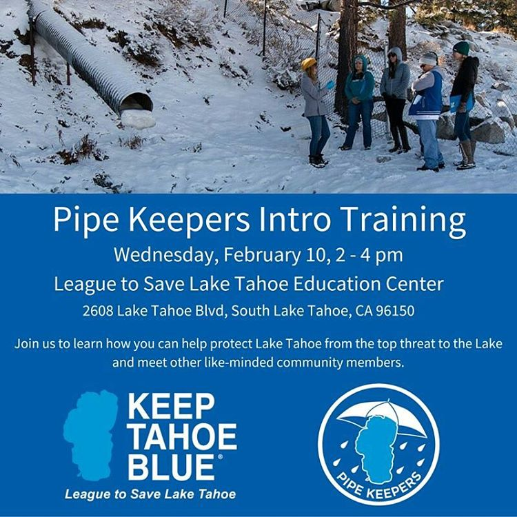 Join us today! RSVP at www.keeptahoeblue.org/rsvp. Remember to wear layers and sun protection for while we are out in the field.