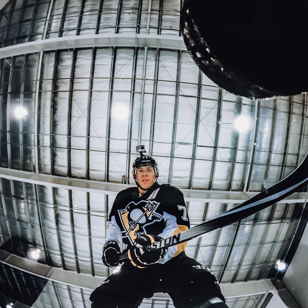 The puck has dropped on @nhl After Dark with @emalkin71geno ! Check out the video on gopro.com/channel and you can get a taste of the superior skills that made him Stanley Cup Champion + #NHL MVP. #GoPro #NHL #NHLPA