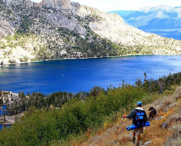 #tbt #hike and #fishing trip with the #pup out to Saucer Lake with the Cascade pack and cooler. #getoutside #tahoesnaps #tahoesouth #saucerlake #echolakes #backpacks #coolers #graniterocx