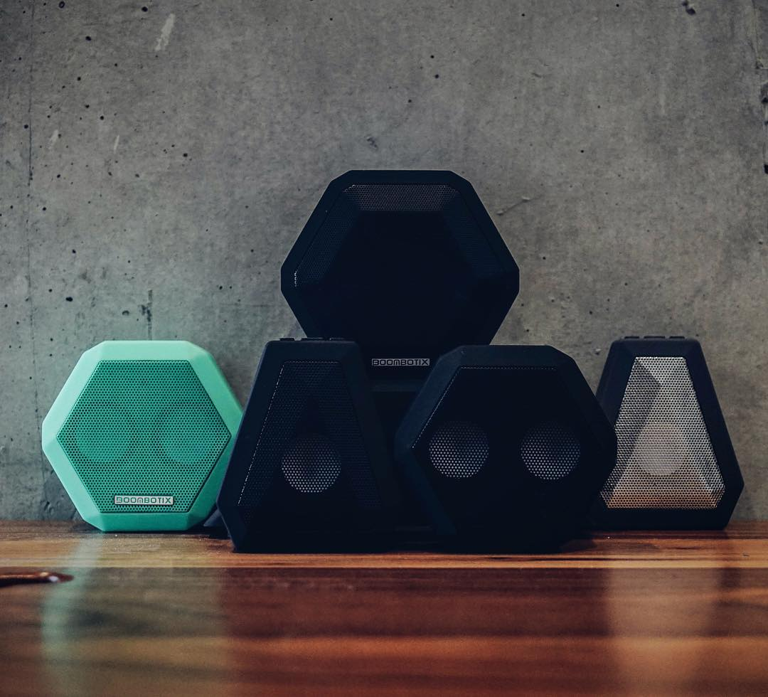 Squad only. #Boombotix  Link in our profile.  #SoundOfTheBrave  #portablespeaker #bluetoothspeaker #essential #audiophile #design