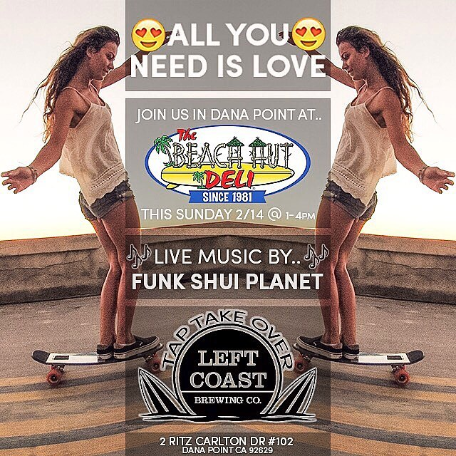 Come party with us and @funkshuiplanet in the Jelly Tour Bus this Sunday at @beachhutdelidp from 1-4pm! We'll be doing giveaways, board demos and beer tasting provided by @leftcoastbrewco