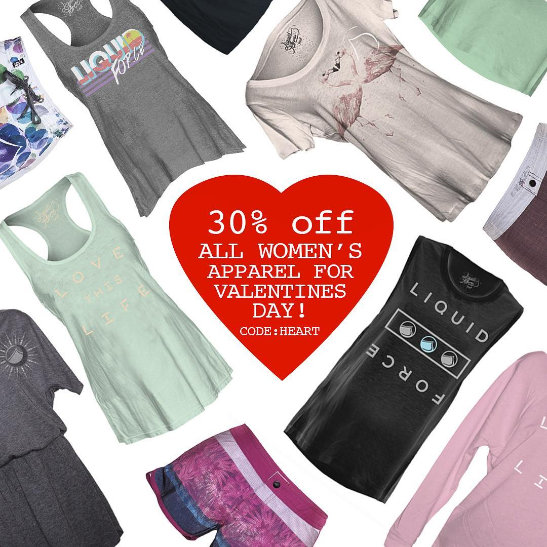 Guys, now is the time to get that special lady in your life some awesome LF women's apparel. 30% off through Sunday night. Code: HEART at check out at liquidforceapparel.com. Ladies, go ahead and treat yourself!!! #valentines #heart #red #liquidforce...