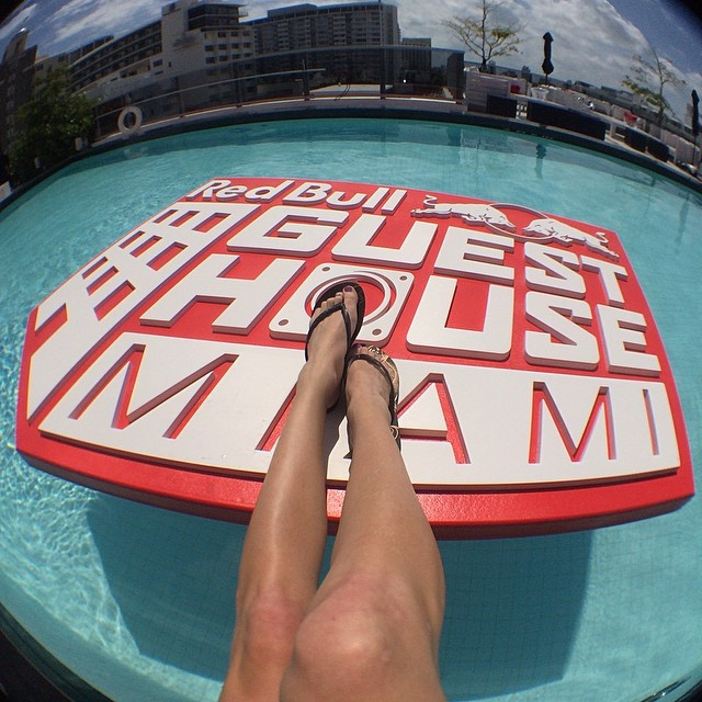 Kickin it in some new @havaianasusa at #RBguesthouse.