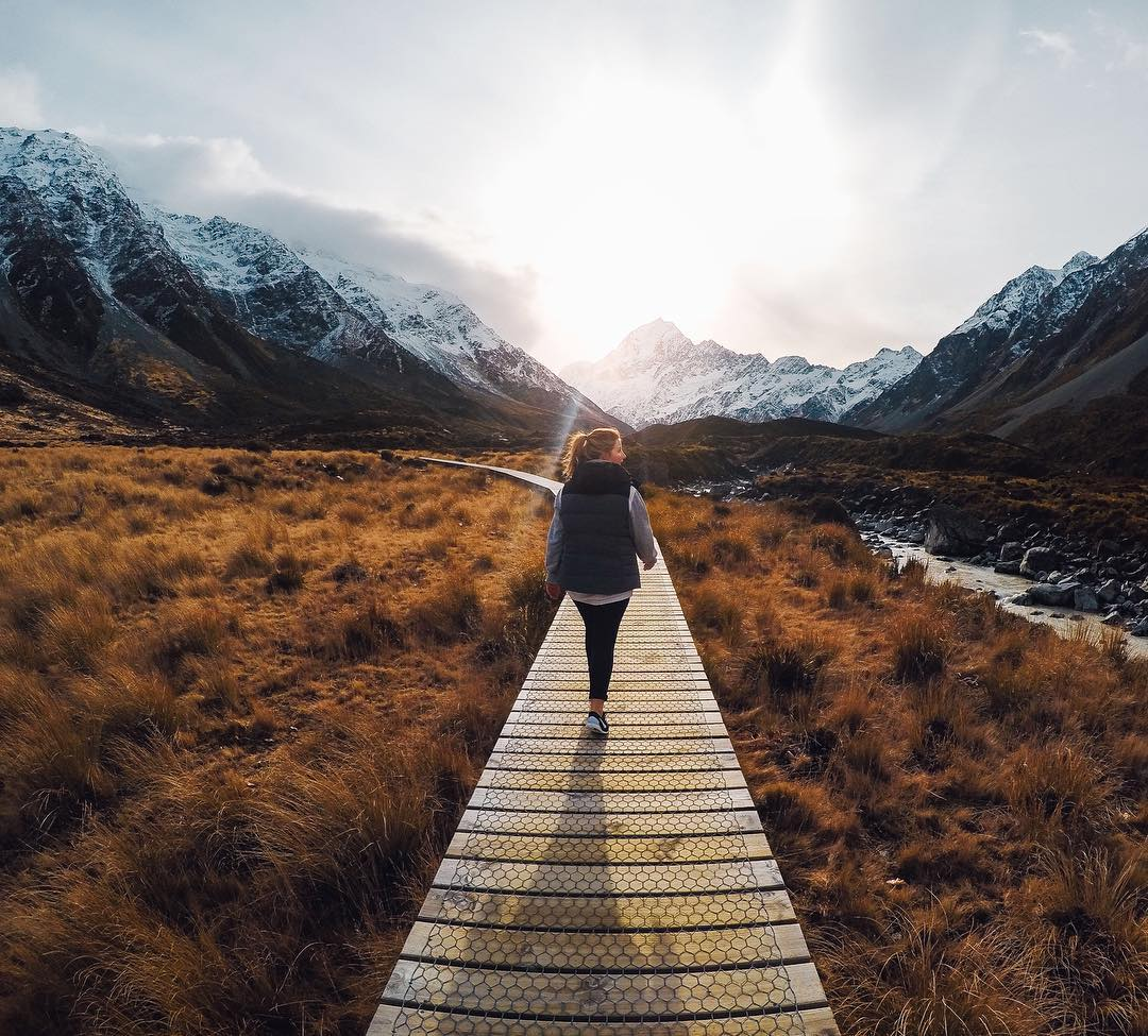 Adventurer, @bare_kiwi takes over our @goproanz handle today. Head down under for more from his travels.  About the Shot: This hike from the #MountCook village up the #HookerValley to the base of #NewZealand's highest #mountain has to be one of my...