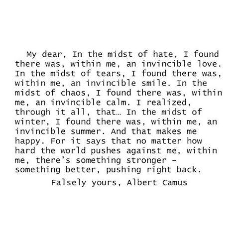 Invincible summer #Camus #fbf #AllSwell