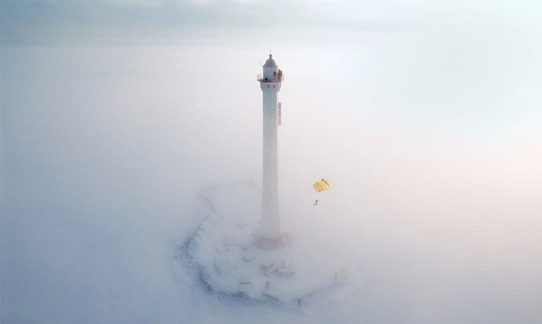 What will you create?  Credit: Victor Sukhorukov | #Phantom #Lighthouse #BaseJump
