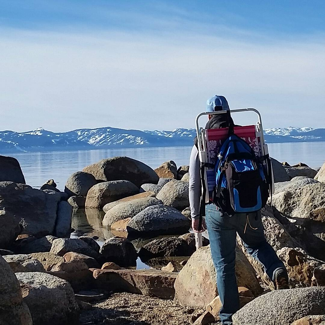 It's a warm one today.  Perfect for a trip to the #beach with the Cascade backpack and cooler.  #bluesky #getoutside #whatsyour20 #tahoesouth #backpacks #coolers #graniterocx
