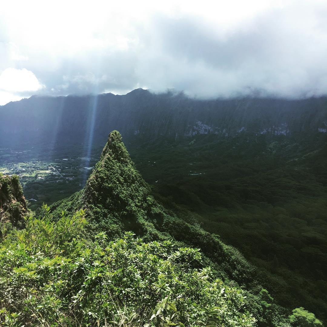 Olomana, I thank you.  #hi #myview #olomana #hawaii #holiday  @tinyatlasquarterly @darling