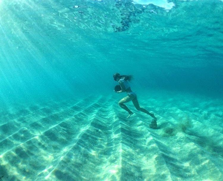 #miolagirls love… underwater workouts