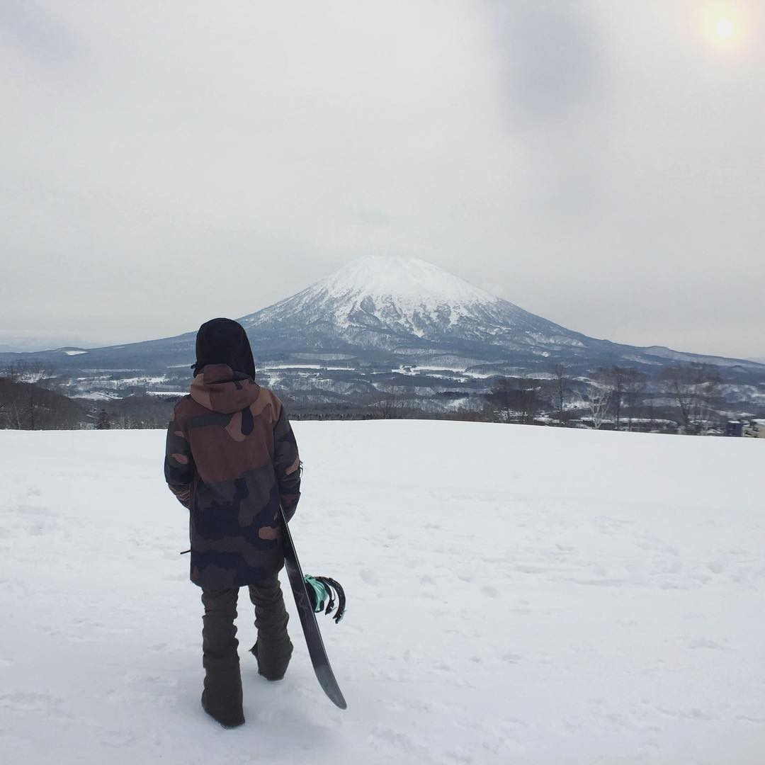 The view of Mt. Yōtei from the Niseko area in Japan is pretty amazing.
