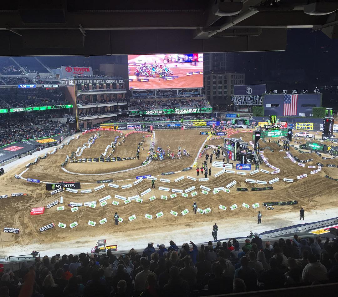 Sweet suite view. #braaaaap #supersuite #MonsterEnergySupercross