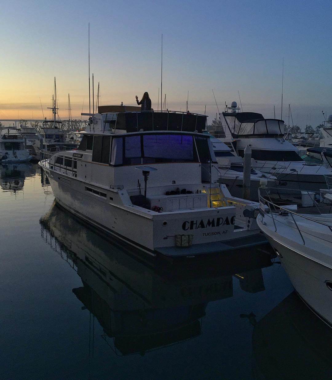 Just said goodbye to my wifey and the floating hotel room we occupied here in the San Diego marina for the past couple of days. Off to the next adventure - which happens to involve have deep white powder. #yachtlife #travellife #powderfiend
