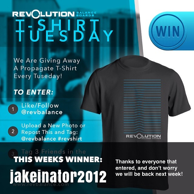 Congrats to @jakeinator2012 for winning this weeks T-Shirt Tuesday. Thanks to all who entered, we will be back next week!