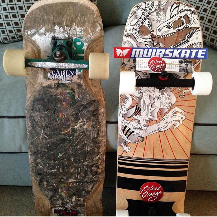 out with the old and in with the new. @dedberdlb putting his Caliber Trucks to work.