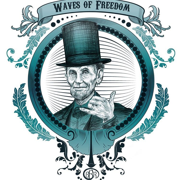 Happy Presidents Day #wavesoffreedom #bbr #bbrsurf #bbrsurfwear #buccaneerboardriders