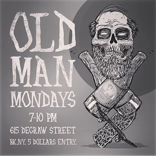 Old (wo)man Monday tonight @homage_brooklyn #nyskateboarding #ladiesofshred #homagebrooklyn #nyc #skatenight