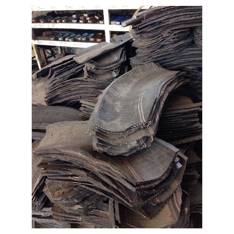 A peek into the Indo workshop. Piles of sliced tires ready to be washed & cut to shape for your footwear.