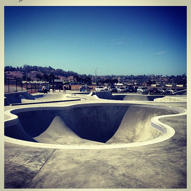 Regram / @brokenmagazine / #oceanside #skatepark
