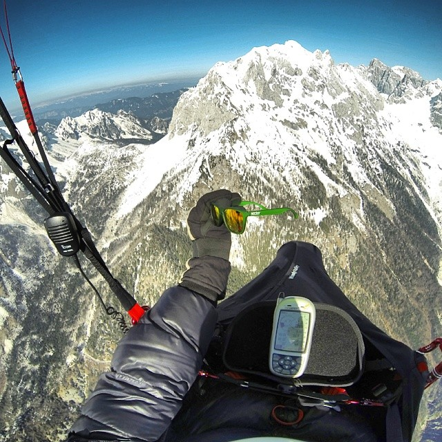 The highest photo we have seen with our sunnies || Julian Alps, Slovenia photo: Simon Konavec #paragliding  #nectarshades #doepicshit